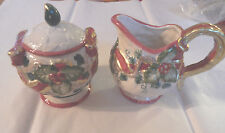 NEW OMNIBUS FITS FLOYD SUGAR BOWL LID CREAMER GOLD HOLLY BERRY Christmas Holiday