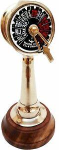 "Christmas Gift Brass Telegraph Table Top Nautical Engine Room Telegraph 6"" Decor"