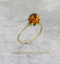 Italian Made Classic Elegant Baltic Amber Ring in 9ct Gold- GR0097  RRP £100!!!
