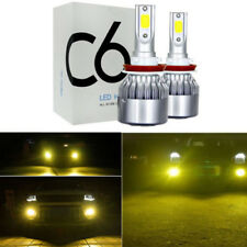 2x H11 H8 H9 3000K Golden Yellow High Power COB LED Fog Lights Driving Bulb DRL