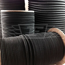 ELASTIC BUNGEE ROPE SHOCK CORD TIE DOWN BLACK WHITE 3mm 4mm 5mm 6mm 8mm 10mm