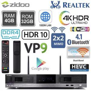 ZIDOO X20PRO RTD1296 4G 32G Quad Core 4K HDR Android TV Box Dual HDD NAS WiFi PC