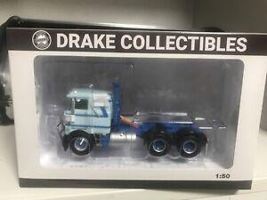 New Drake Mack F700 Prime Mover Diecast Truck 1:50 Light Blue
