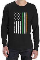 St. Patrick's Day Big Irish American Flag Long Sleeve T-Shirt Gift Idea
