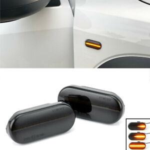 2x Dynamic Blicker LED Side Marker Light For VW MK4 Passat Fiesta Focus Ibiza