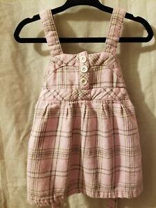 Vintage Baby Girls Dress Please Mum Canada Size 6-12 Months Pink Plaid