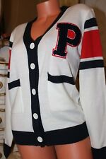S8 SWEEWE  PARIS white&red&navy blue design funky cardigan size S/M
