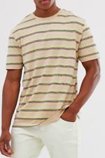 ASOS DESIGN Organic Cotton Relaxed T-shirt Stripe BNWT Size M