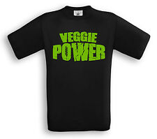 VEGGIE POWER -T-Shirt - Vegetarier Vegetarian Straight Edge Meat Free Tierschutz