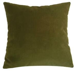 """Wasabi Green Velvet Suede Decorative Throw Pillow Cover / Cushion Cover 20x20"""""""