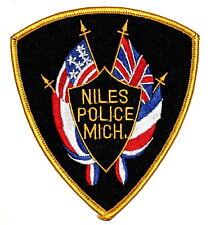New listing Niles Michigan Mi Sheriff Police Patch Us Flag British Flag ~