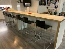 More details for high panel sided bench with 6no stools (delivery available)