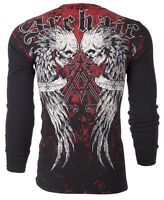 ARCHAIC by AFFLICTION Mens LONG SLEEVE THERMAL Shirt DOUBLE DEATH Biker $58