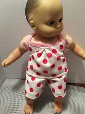"Tank Top Shorts Pajamas Fits 15"" Bitty Baby Twins Doll Clothes NEW Polka Dots"