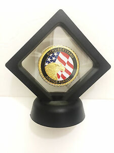 World Trade Center,Gold Plated Coin,September 11,Memory Token 9/11 & Frame - Blk