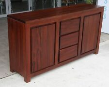 FIJI SOLID MAHOGANY Buffet Sideboard Cabinet Table 3 drawers 2 doors