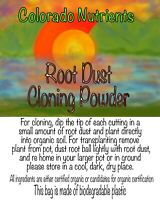 Root dust cloning and transplant powder for cannabis and garden