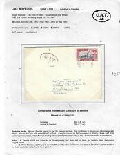 ZANZIBAR (PP0303B)1962 MKOANI OAT TO SWEDEN  1/25C ON PAGE WITH FULL DESCRIPTION