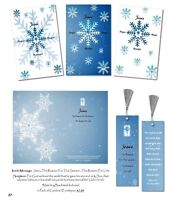 Snowflake Christmas Cards-3-Pack w/ Envelopes-(Includes 3 Bookmarks) Christian