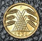 1936 F GERMANY THIRD REICH - 5 REICHSPFENNIG - Grain Coin - WWII era - LUSTRE