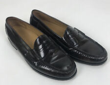 COLE HAAN Men's Dress Cordovan Penny Loafer Shoes Black Cherry  Size 10.5 D