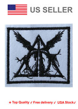 Deathly hallows Iron On / Sew On Patches harry potter motif hogwarts Embroidery