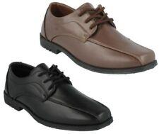 Chaussures habillées en synthétique à lacets pour garçon de 2 à 16 ans