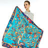"Women's Lake Blue Fashion Tree Large Shawl Euro Style Print Scarf Stole 51""*51"""