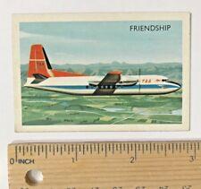 1960s TAA FOKKER FRIENDSHIP TWIN-ENGINE PLANE VINTAGE AUSSIE TRADING CARD EXC-NM