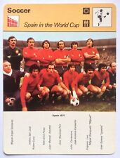 Sportscaster Football Card Editions Rencontre Spain in the World Cup