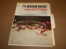 PY119) Bush Hog Sales Brochure 4 Pages - Log Splitters