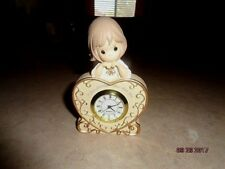 """Precious Moment 4"""" Clock NEW Read I Love Spending Time With You Guaranteed 2011"""