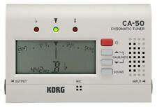 Korg CA-50 Chromatic Tuner Orchster Instrument Dur- & Moll-Terzintervall Weiß