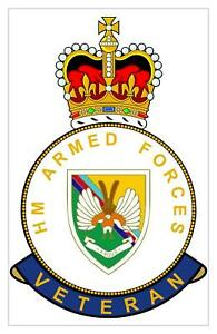 """Classic HM armed Forces 14 Intel Intelligence Corps """"The Det"""" Veterans Sticker"""