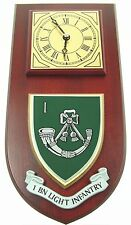 1ST BTN LIGHT INFANTRY CLASSIC REGIMENTAL HAND MADE TO ORDER WALL CLOCK