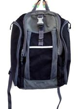 LAND'S END Backpack Black & SILVER Travel Laptop School Everyday Travel