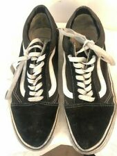 Vans Sneakers Black White Trainers Shoes 8.5 8 9 Suede Leather 42.5 42 43 punk