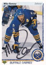 Mike Ramsey Buffalo Sabres Autographed 90/91 Upper Deck Hockey Card