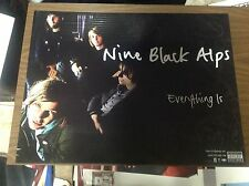 Cd Lp Poster 24x18apx Nine Black Alps everything is vintage music Rare 1