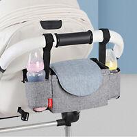 Baby Pram Bottle Holder Stroller Pushchair Buggy Storage Organiser Mummy Bag LI