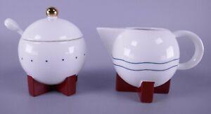 1987 Michael Graves Swid Powell Memphis Porcelain Sugar & Creamer Set