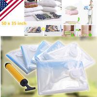 6 X-Large  PACK JUMBO Space Saver Bags Storage Bag Vacuum Seal Organizer Hot