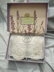 Michel Design Works LAVENDER W/SHEA BUTTER Soap Bar 5oz Each, BOX of 2