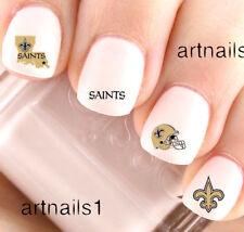 New Orleans Saints Football Nail Sports Team Water Decals Stickers Salon Polish