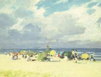 Purple Beach Scene Edward Henry Potthast Fine Art Print on Canvas Panting Giclee