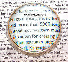 Vintage Solid Brass Nautical Magnifying Glass – Chart Reader Brass Chrome Finish