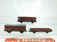 BJ398-0, 5 #3x Roco H0/AC Vagón de Mercancía: 114 230 FS +400330DB + SNCF, Mint
