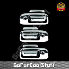 For Chevy Express 2003-2015 Chrome 3 Doors Handles Covers W/ 3 Keyholes