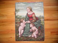 Tapestry Panel - MADONNA + Child &Little St. John 23x17