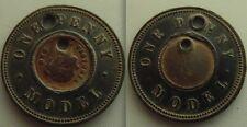 Modèle de collection Un Penny Reine VICTORIA coin / JETON-recherche deux fois